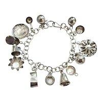 Vintage Jose Marmolejo JMS Icuala Mexico Sterling Silver Charm Bracelet