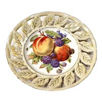 Vintage Royal Halsey Very Fine China Reticulated Fruit Plate