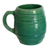 Rare Vintage 1920's Nelson McCoy Pottery Stoneware Barrel Mugs- a Pair