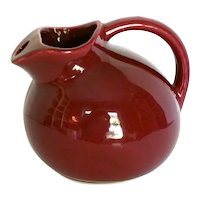 Vintage 1940's McCoy Stoneware Pottery Cranberry Ball Pitcher