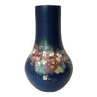 Vintage Weller Pottery Blue Hudson Apple Blossoms Vase