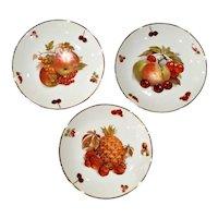 Vintage Mitterteich German Porcelain Fruit Plates - Set of 3