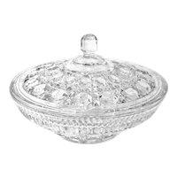 """Vintage Federal Glass """"Windsor"""" Covered Dish"""