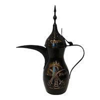 Antique Middle Eastern Saudi Arabia Dallah Arabic Coffee Pot