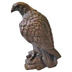 Vintage Hollywood Regency Syroco Wood Eagle Hawk Figurine
