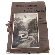 "1913 Antique British Book ""Some Portraits of the Lake Poets & Their Homes"" w/Photos"