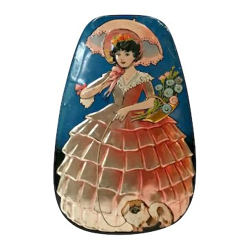 1930s Vintage Dainty Dinah Southern Belle Horner's Toffee Tin