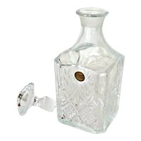 Vintage Cristal De France Cut Glass Crystal Liquor Decanter