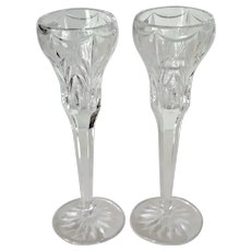 "Waterford Crystal ""Canterbury"" Candlestick Holders"
