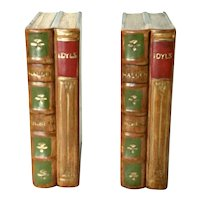 2 Vintage N S Gustin Pottery Book Bookends - Walden Thoreau Idyls