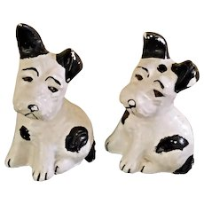 Pair of Vintage Chippy Chalkware Dogs Bookends