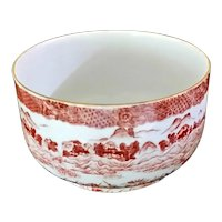 Antique Aesthetic Japanese Cinnamon Transferware Bowl