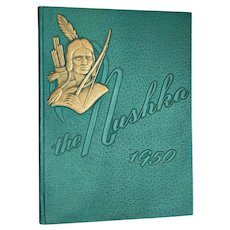 Vintage 1950 The Nushka Yearbook Marion, NC