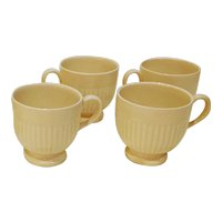 Vintage Wedgwood Creamware Edme Etruria Footed Cups - Set of 4