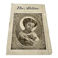 "Antique 1872 ""The Aldine"" Lithograph Christmas Print of Infant Jesus by William Linton"