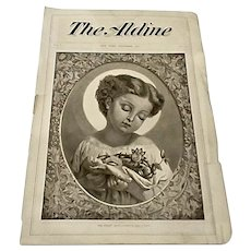 """Antique 1872 """"The Aldine"""" Lithograph Christmas Print of Infant Jesus by William Linton"""