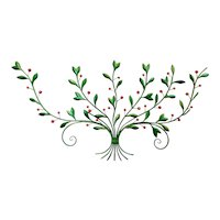 Vintage Kitsch Italian Toleware Cherries Cherry Tree Metal Wall Sculpture