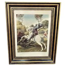 Vintage 16 x 20 Raphael St George & the Dragon NGA Framed Print
