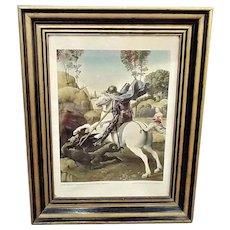 Vintage Raphael St George & the Dragon NGA Framed Print