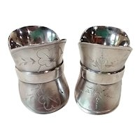 Pair of Antique Victorian 1881 Silverplate Napkin Rings Holders