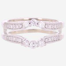 14k 1ct White Gold Diamond Ring Enhancer