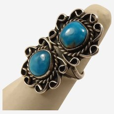 925 Turquoise N-S Ring in Size 7