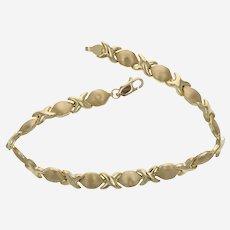 10k Vintage XO Link Bracelet