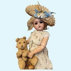 """Lovely little antique German doll by Kammer and Reinhardt 12"""""""