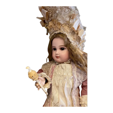 Very rare Victorian doll rattle