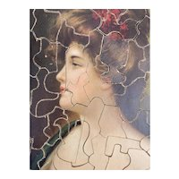 Outstanding jig-saw lithograph antique puzzle, collectibles puzzle, children toy