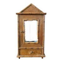 French Faux bamboo Bebe armoire