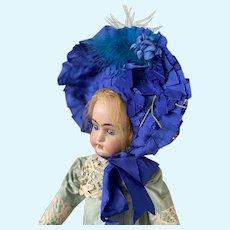 Marvelous fashion bonnet for your antique doll