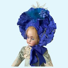 Reserved. Thank you SJ! Marvelous fashion bonnet for your antique doll