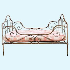 French cast iron doll bed for Bebe or doll