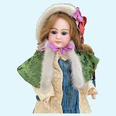 Fashion doll cape, doll clothes  and bonnet for you Bebe, Jumeau, Schmidt, Kestner