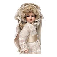 "Lovely original UNIS FRANCE 60 cabinet size 12"" doll"