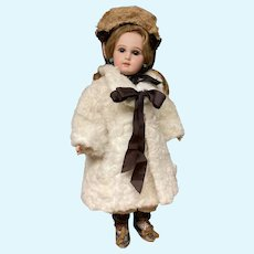 Lovely French doll fur coat with bonnet