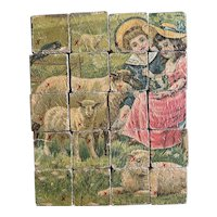 Lovely antique wooden block puzzle