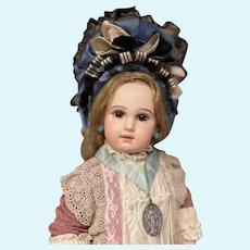 French Bebe silk bonnet