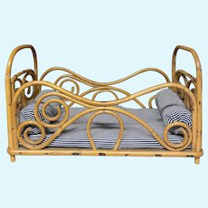 Lovely Wicker doll bed