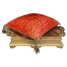 Timeworn antique French globe wedding cushion for bride tiara display 19th C