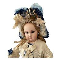 Royal blue French Bebe bonnet