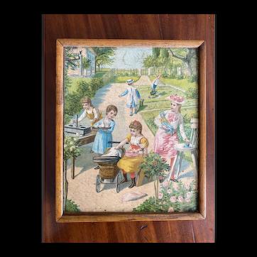 Amazing antique children's puzzle in original box