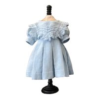 Very sweet original antique blue dress for your French Bebe