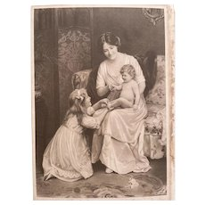 Lovely antique photo of famous painting of Arthur J. Elsley