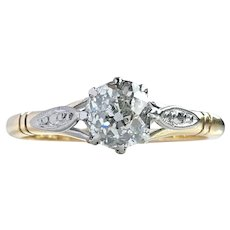 Antique Victorian 0.50ct Old Cut Diamond Engagement Ring