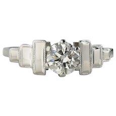 Antique 1930s Art Deco 0.50ct G/VS Old Cut Diamond Engagement Ring
