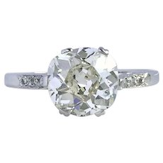 Antique Victorian / Edwardian 2.12ct J/SI2 Old Cut Diamond Engagement Ring