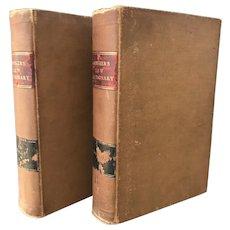 1890 John Bouvier's Law Dictionary 2 Vol. Set Old Antique Legal Books