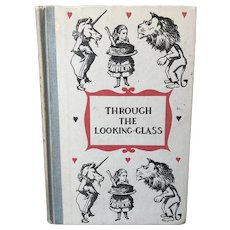 Vintage ALICE IN WONDERLAND or Through the Looking Glass Illustrated Children's Book Tenniel